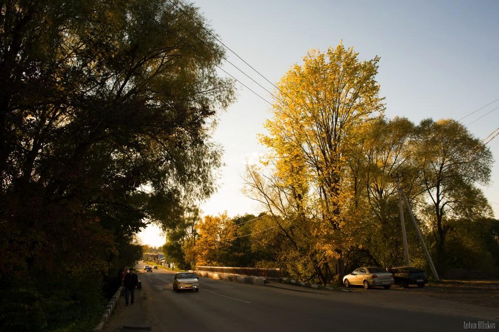 Осень в Меленках. Мост через р. Унжа