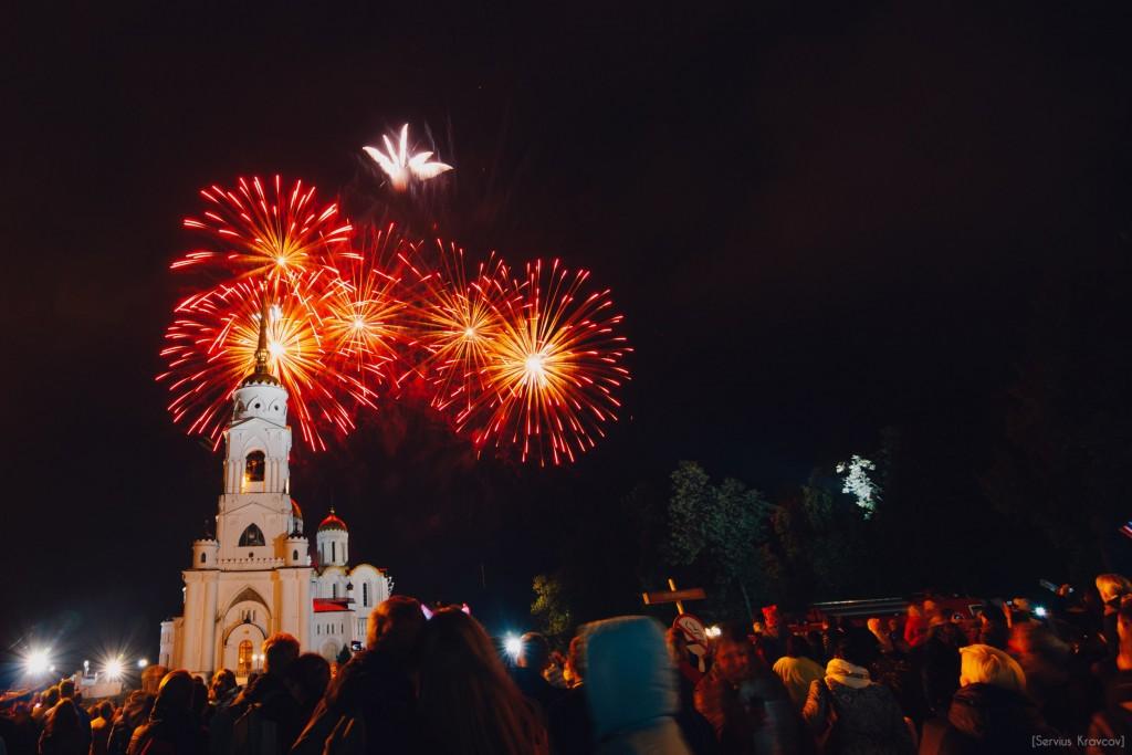 Праздничный салют на День города Владимира 2016