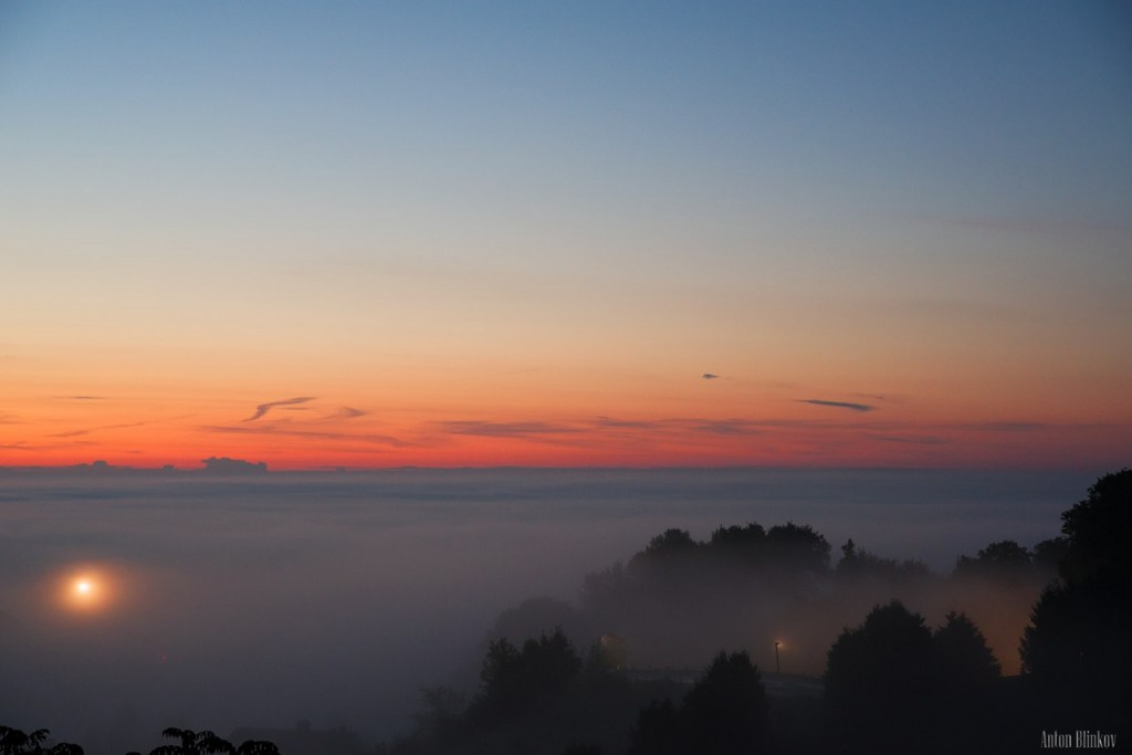 Рассвет. г. Владимир в объятиях тумана
