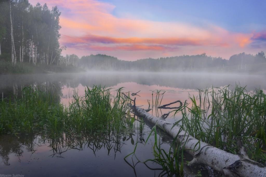 Тихое и спокойное озеро Саврасово, Владимирская обл, Вязниковский р-он. 02