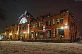 Центр города Вязники во время первого снега
