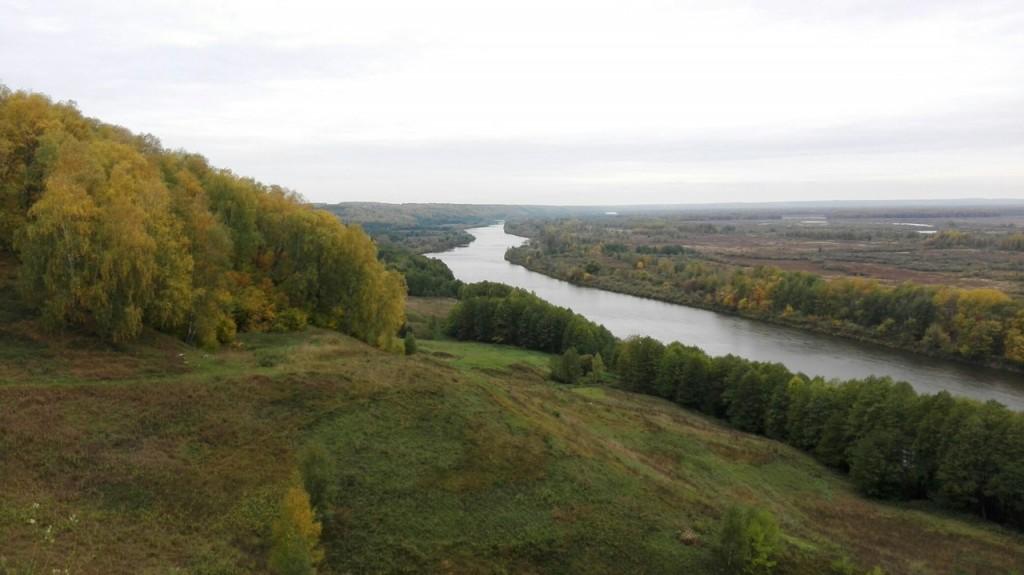 Шикарный вид с горы на р. Клязьма. г. Гороховец