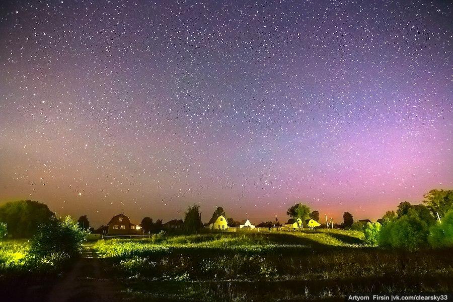 Владимирская деревня, Суздальский район. Прогулка среди звезд ночного неба 04