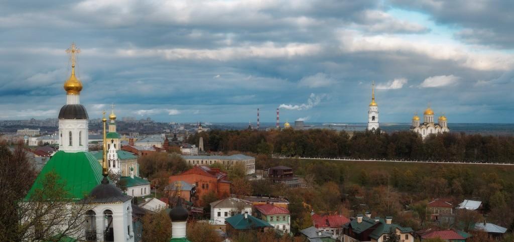 Владимир осенью, панорама