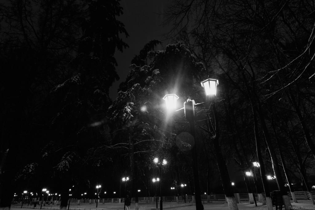 Владимир. Ночь темна и полна света фонарей 01