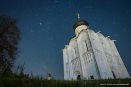 Звездная ночь в Боголюбово. Автор фото: Артем Фирсин