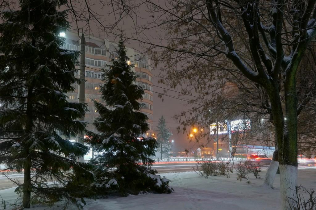 Зимняя, городская сказка (почти ночь, Владимир) 03