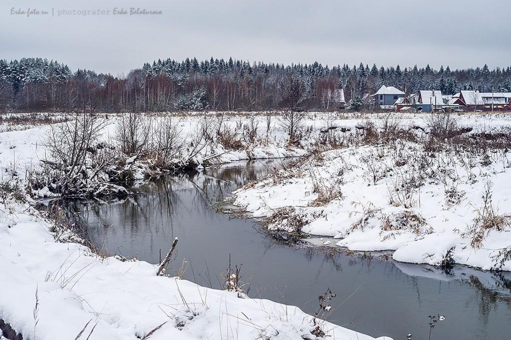Река Мележа на границе Владимирской и Московской области