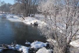 Река Унжа, Зима 2015 в г.Меленки
