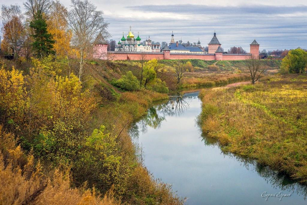 Суздаль. Осень.Спасо Евфимиев монастырь. Каменка