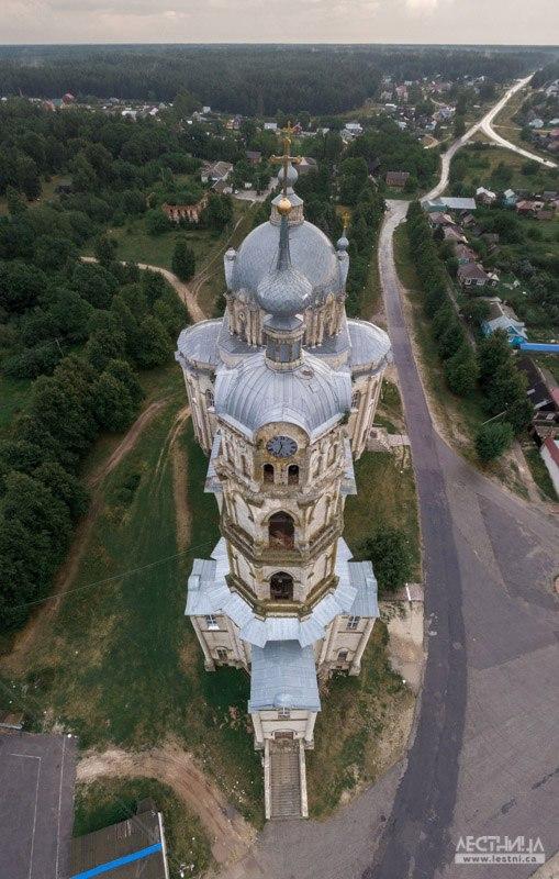 Троицкий собор в Гусь-Железном с высоты 04