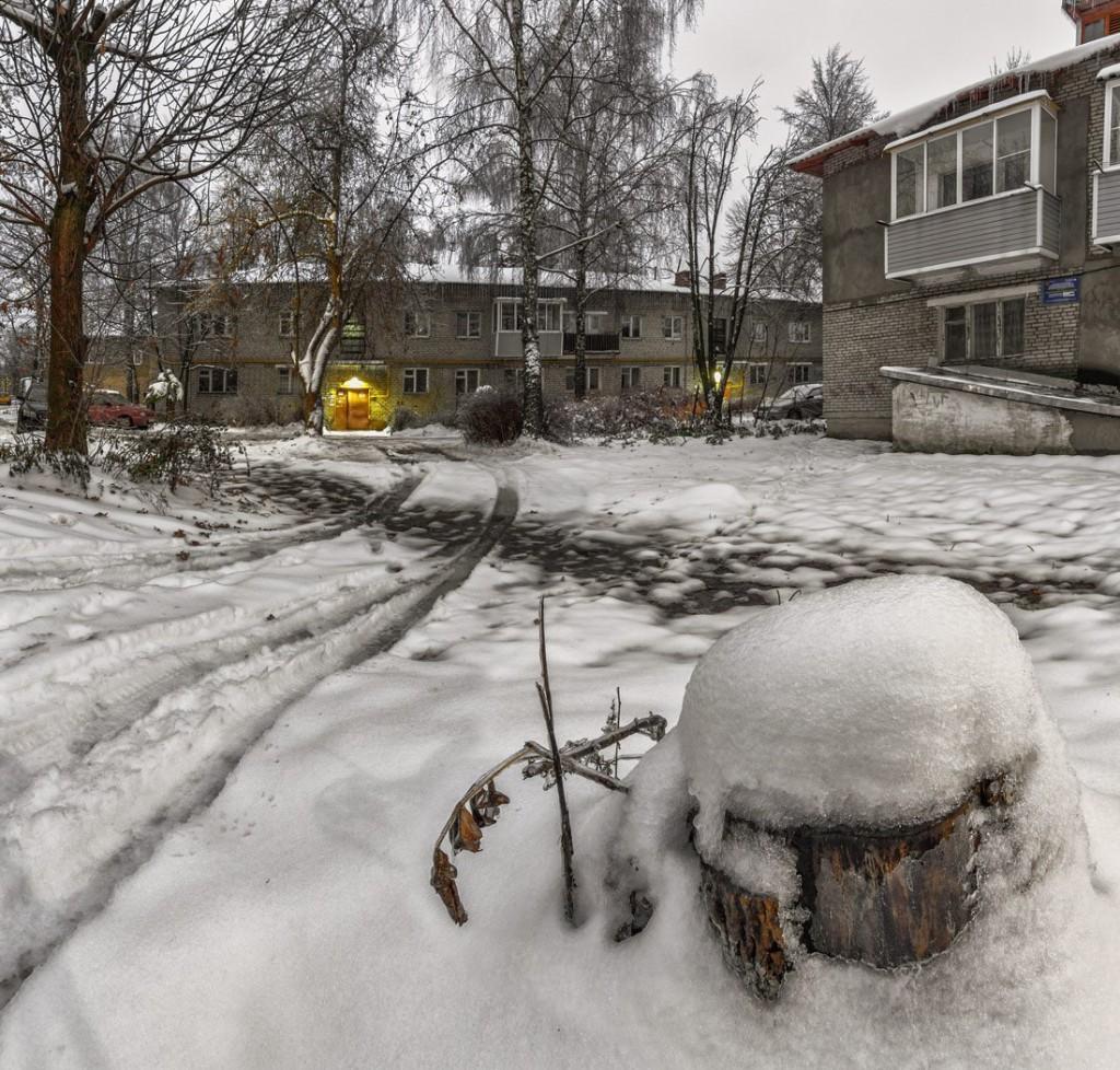 Улица Лермонтова в Александрове утром 02