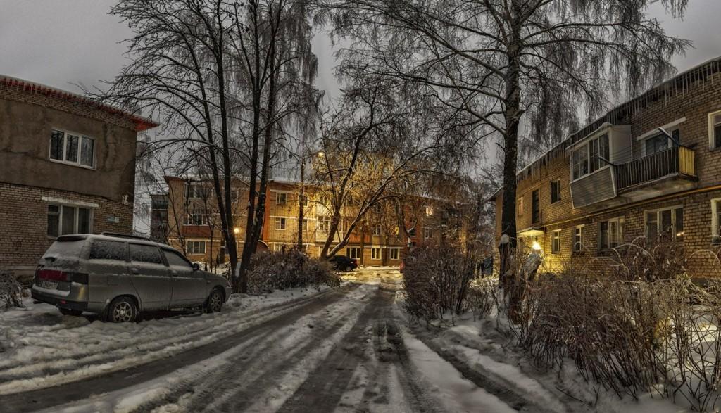 Улица Лермонтова в Александрове утром 03