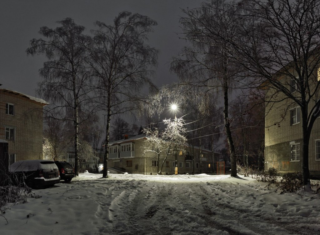 Улица Лермонтова в Александрове утром 04