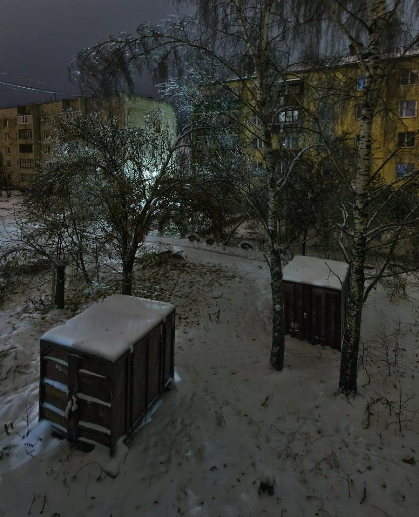 Улица Лермонтова в Александрове утром 05