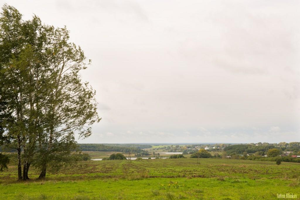 Юрьев-Польский район. На дальнем плане село Небылое