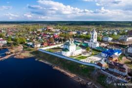 Богоявленский монастырь (Мстёра) с высоты