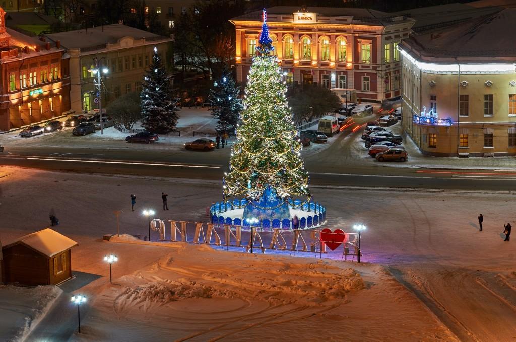 Вечерний, предновогодний, праздничный Владимир 01
