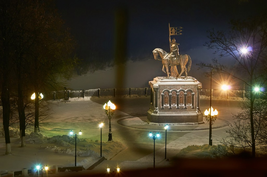 Вечерний, предновогодний, праздничный Владимир 04