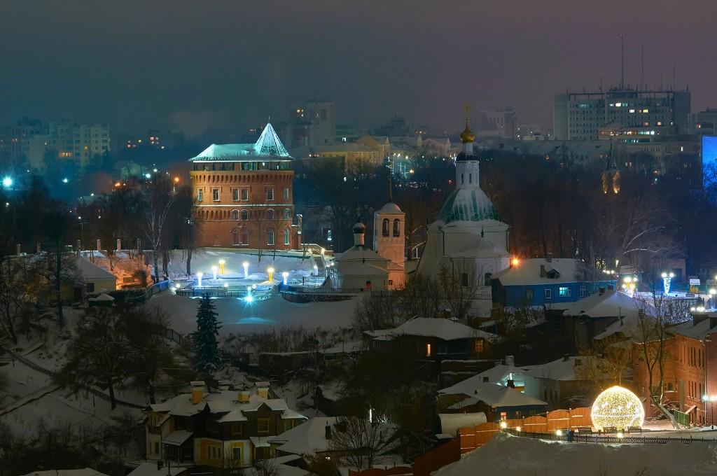 Вечерний, предновогодний, праздничный Владимир 05