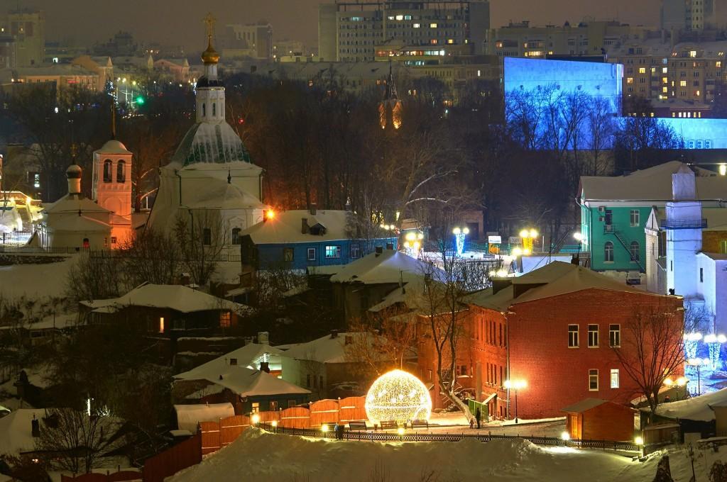 Вечерний, предновогодний, праздничный Владимир 06