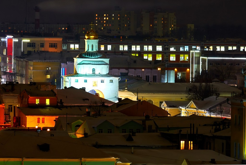 Вечерний, предновогодний, праздничный Владимир 08