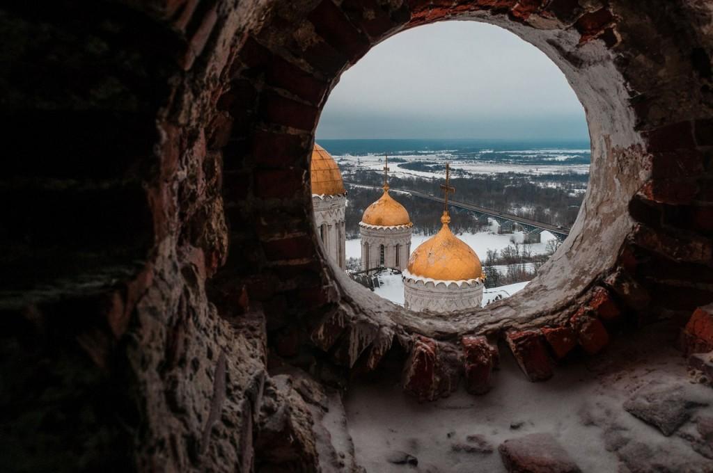 Вид на Клязьму с высоты колокольни Успенского собора 01