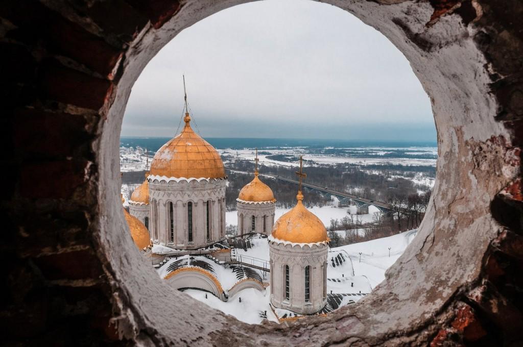 Вид на Клязьму с высоты колокольни Успенского собора 02