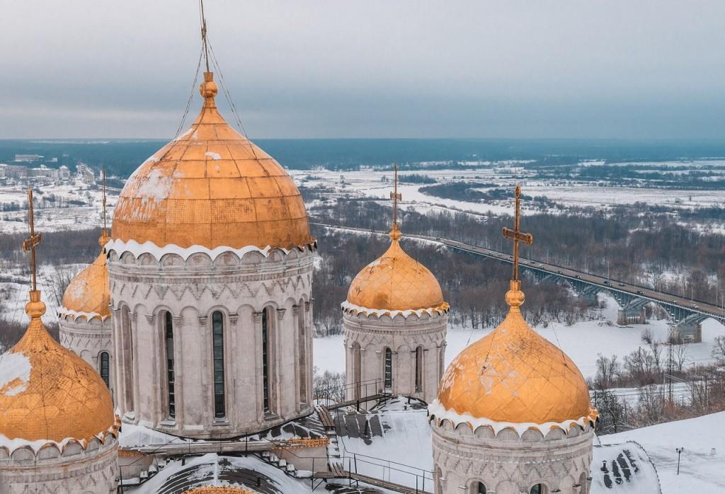 Вид на Клязьму с высоты колокольни Успенского собора 03