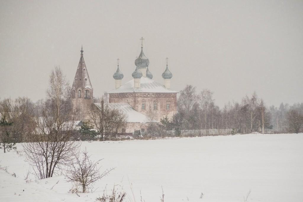 Зима в с. Малышево. Церковь Казанской иконы Божией Матери