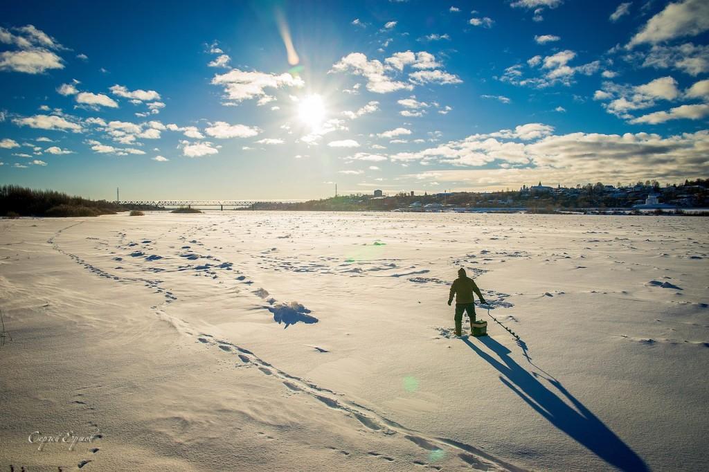 Зимнее субботнее утро на Оке. Муром