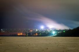 Морозная ночь. Муром. Железнодорожный мост через Оку