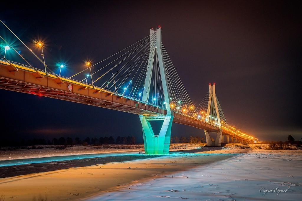 Муромский мост, соединяющий Владимирскую и Нижегородскую области