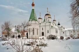 Муром. Зимой в Спасо-Преображенском монастыре
