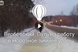 Вербовский. Путь на работу в морозное зимнее утро, 31.01.2017