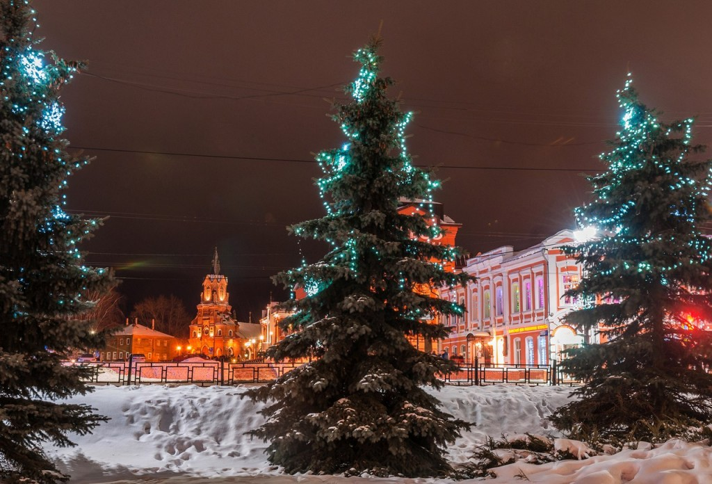 Вечерний, новогодний, праздничный Владимир 01