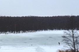 Красная Горбатка, новогодние катания с горки