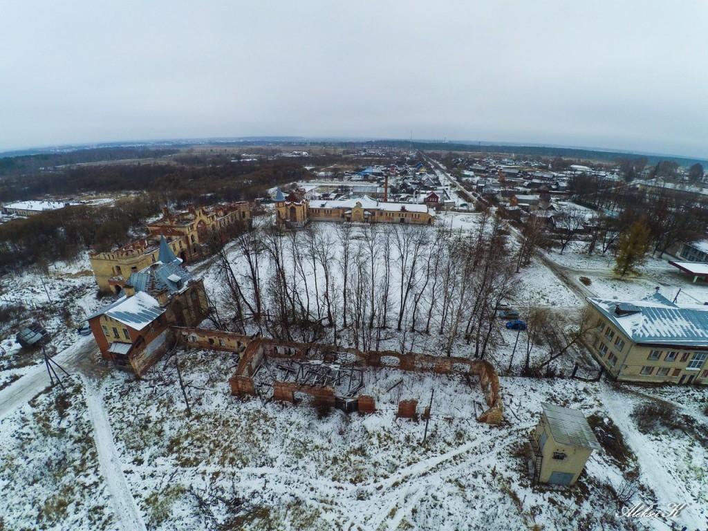 Муромцево и усадьба Храповицкого с высоты 01