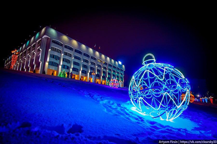 Новогоднее украшение Владимира (Площадь возле администрации) 01