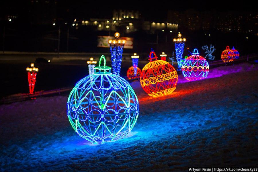 Новогоднее украшение Владимира (Площадь возле администрации) 03