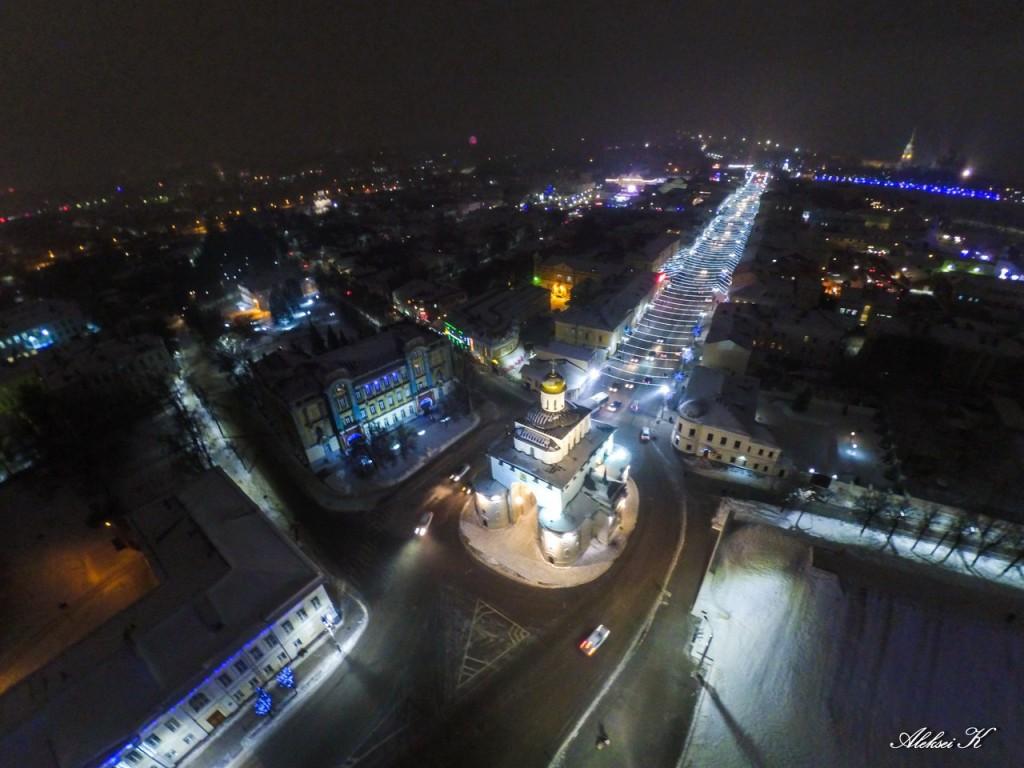 Новогодний Владимир с высоты 01