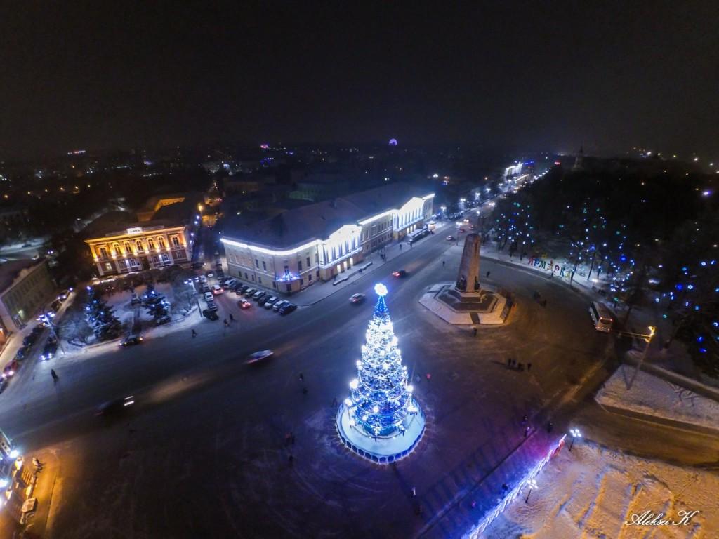 Новогодний Владимир с высоты 02