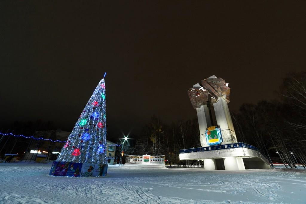 Новогодний Ковров Площадь 200-летия Коврова