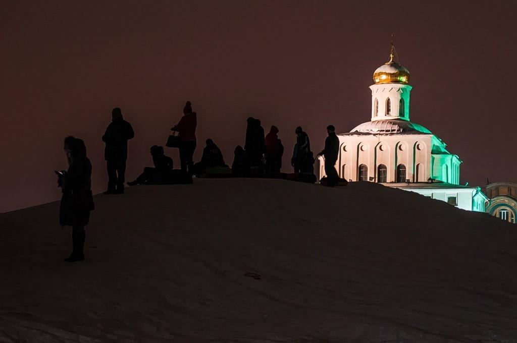 Новогодняя театральная площадь и Спасский холм 04