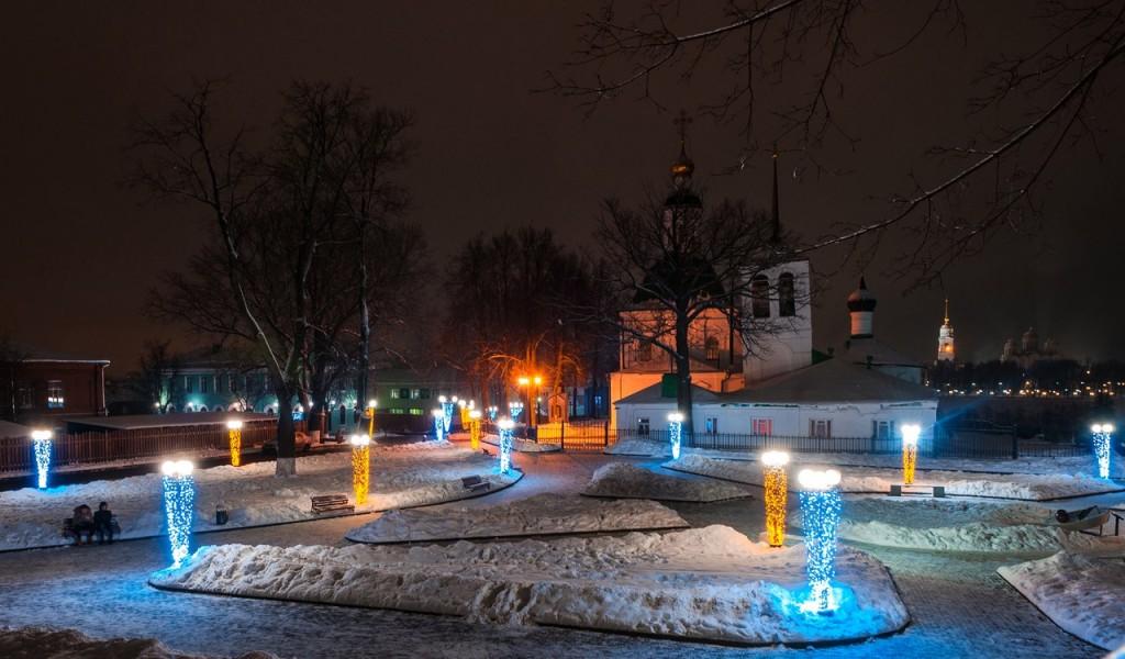 Новогодняя театральная площадь и Спасский холм 05
