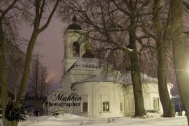 Прекрасные виды вечернего Кольчугино и планы церкви покрова пресвятой Богородицы