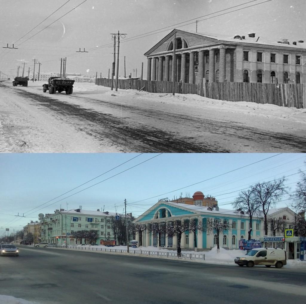 Улица Горького во Владимире с разницей в 60 лет