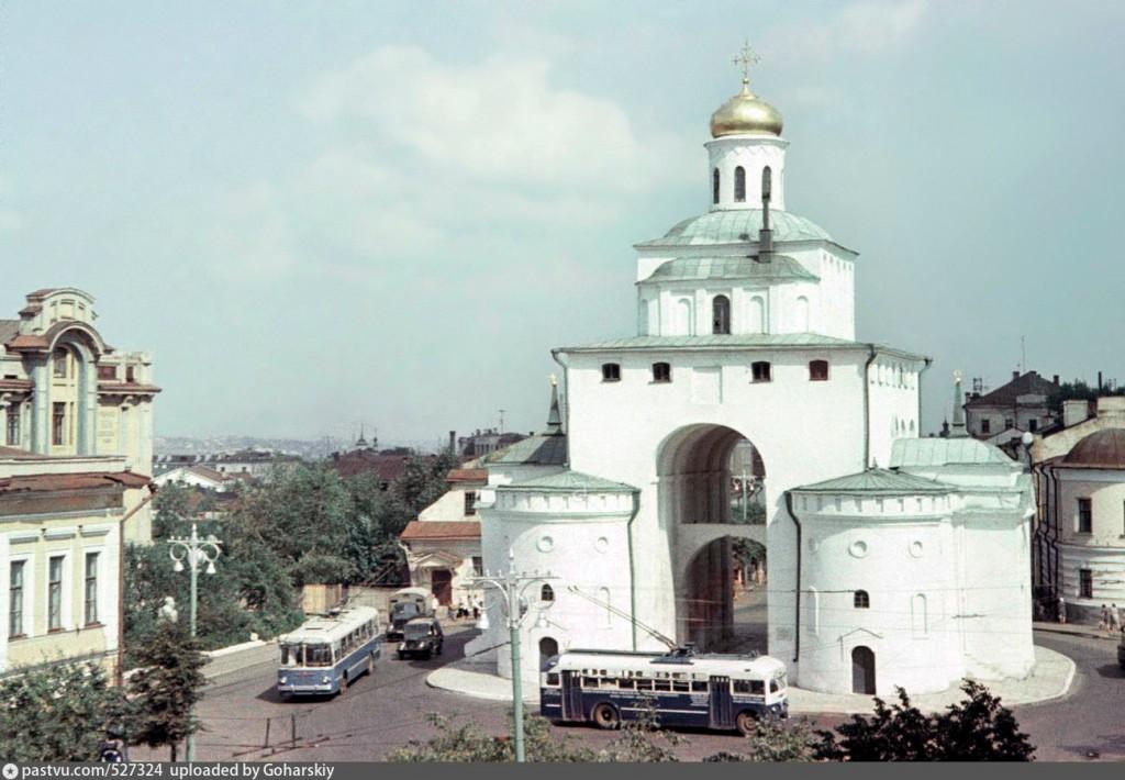 05 Московская улица (ныне Дворянская улица)Золотые ворота 1966, Россия Владимирская область, Владимир