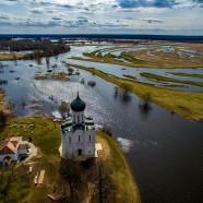 Апрельский разлив в Боголюбово с высоты
