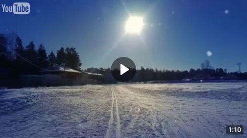 Вербовский стадион. Зимняя прогулка в солнечный день 02.02.2017